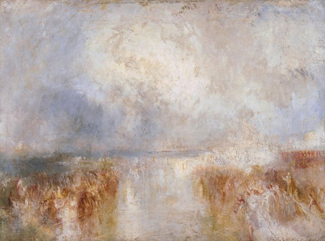Joseph Mallord William Turner (British, 1775-1851) 'The Disembarkation of Louis-Philippe at the Royal Clarence Yard, Gosport, 8 October 1844' About 1844 - 1845