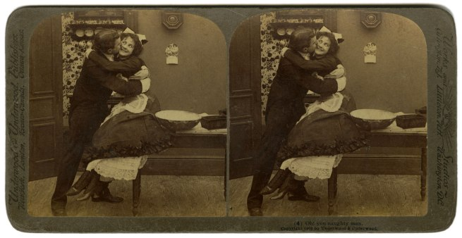 Underwood & Underwood, United States 'Oh ! you naughty man' 1900