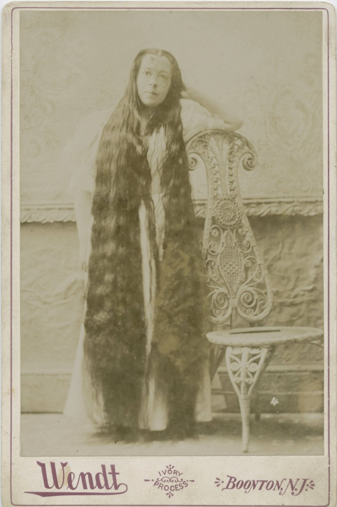Wendt Studio, New Jersey, United States 'Helen Mathews, Length of hair 6 feet 4 inches' 19th century