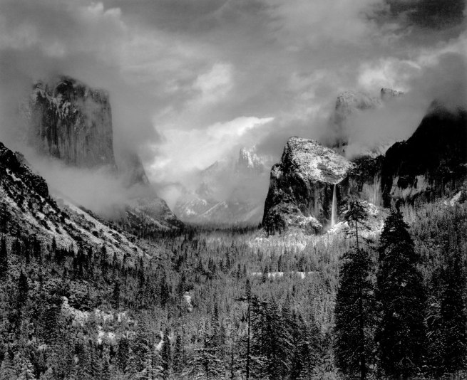 Ansel Adams. 'Clearing winter storm, Yosemite National Park, California' 1935