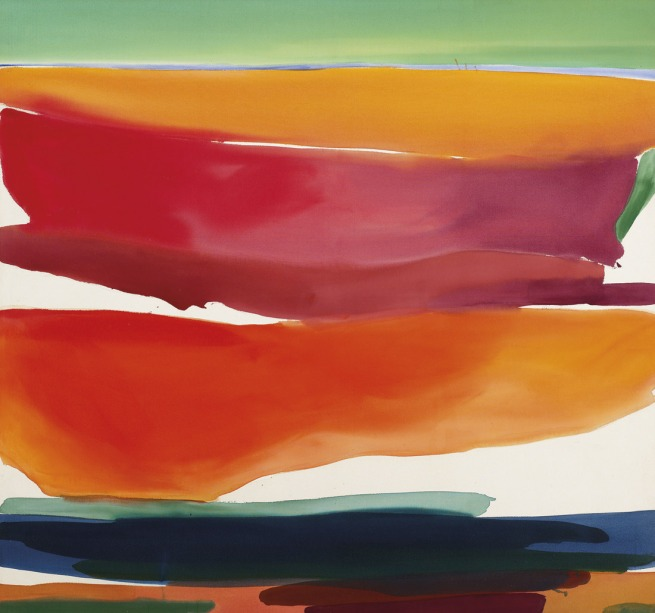Gretchen Albrecht. 'Pink and orange sherbet sky' 1975