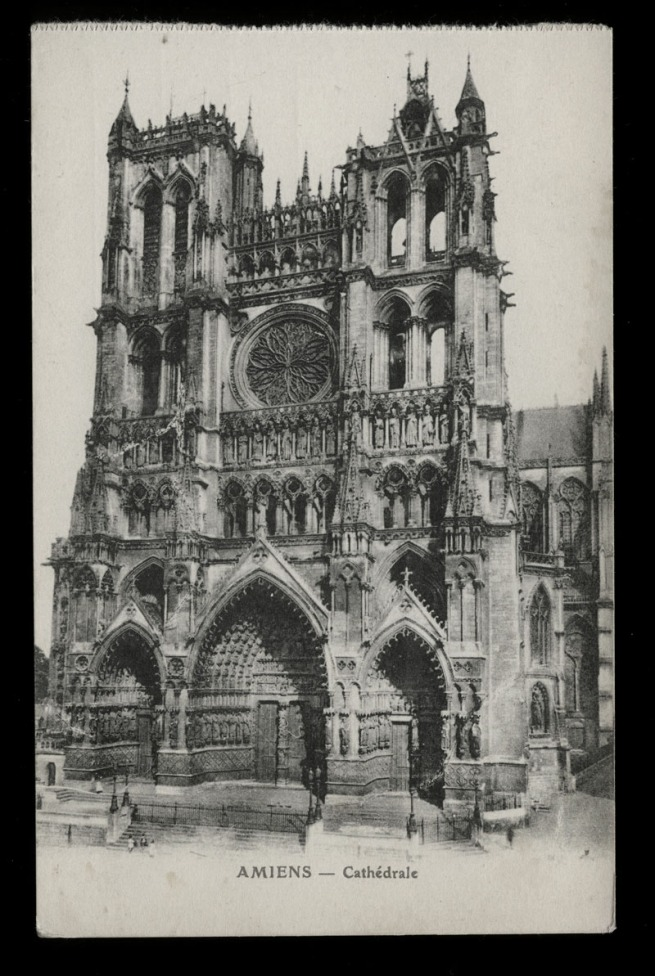 L. Caron (French, editor) B & G, Lyon (Publisher) 'Amiens - Cathedral' Nd