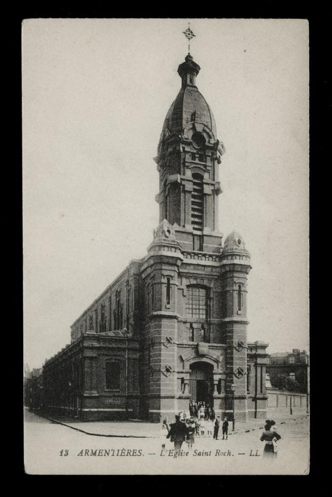Léon & Lévy. 'Armentières - L'Eglise Saint Roch' c. 1883-1916