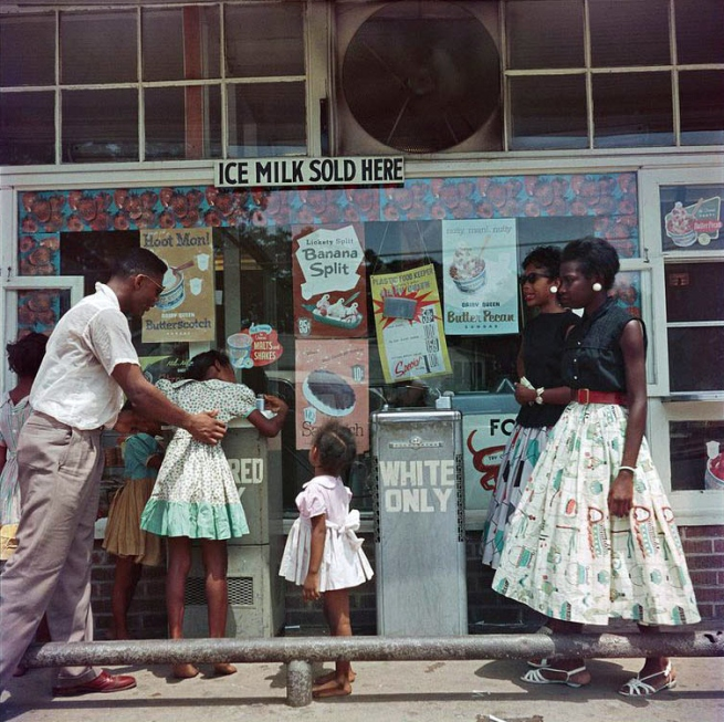 Gordon Parks (American, 1912-2006) 'At Segregated Drinking Fountain, Mobile, Alabama' 1956
