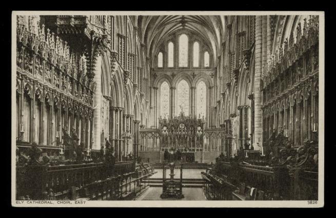Photochrom Co. Ltd., Tunbridge Wells, Kent (British) 'Ely Cathedral, Choir, East' Nd