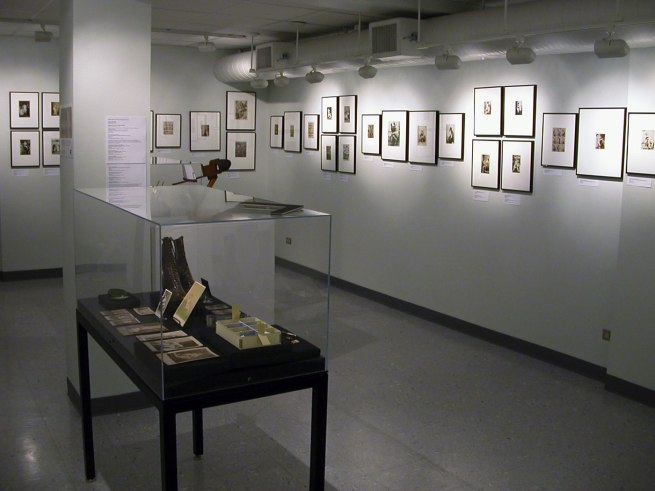 Gallery wall of the exhibition 'Hold That Pose' at the Kinsey Institute