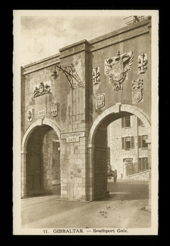 L. Roisin, Barcelona (Lucien Édouard Roisin Besnard, Paris, 1876 - Paris ou Barcelone, 1943) 'Gibraltar - Southport Gate' Nd