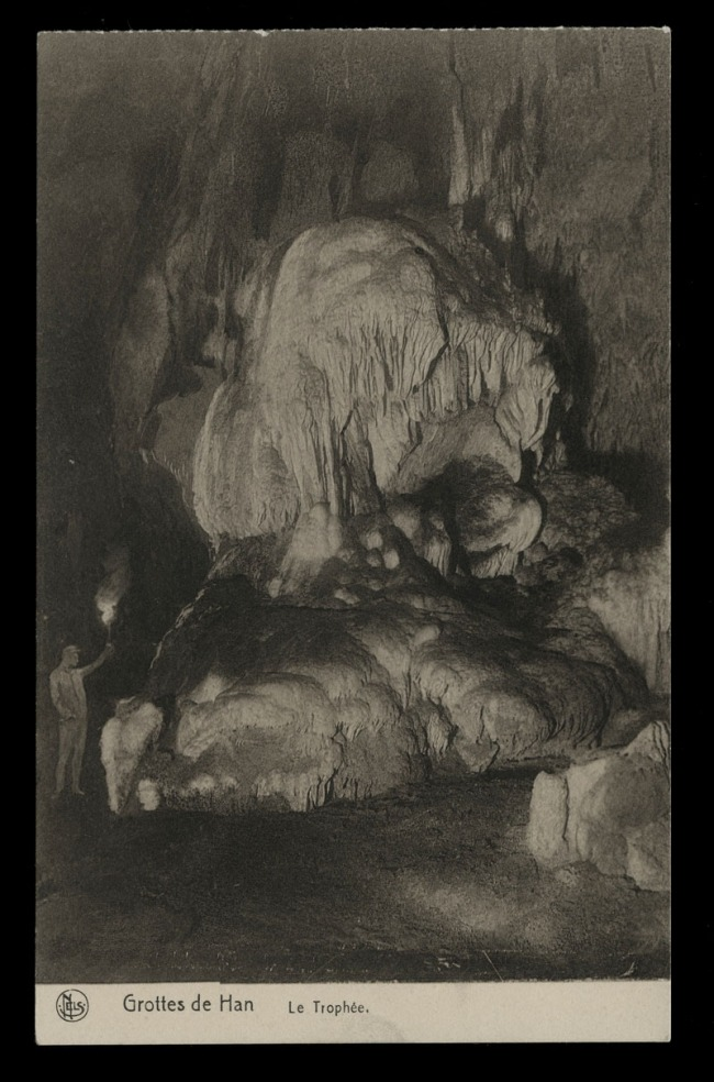 Nels (Belgium, 1898 - ) 'S. A. des Grottes de Han-sur-Lesse et de Rochefort - Le Trophée [Caves of Han-sur-Lesse and Rochefort - The Trophy]' Nd