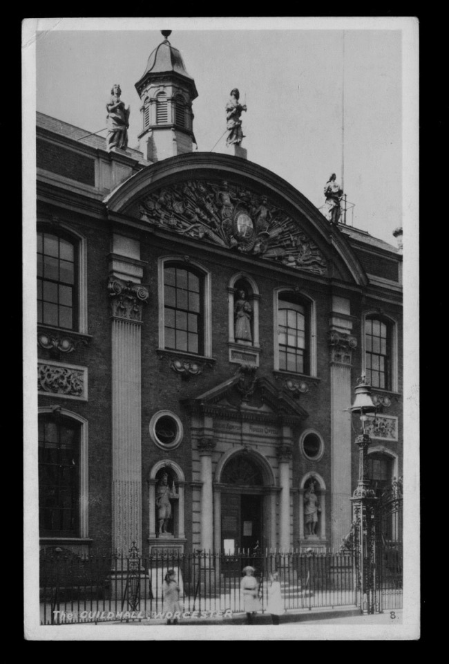 The R. A. (Postcards) Ltd., (British) 'The Guildhall, Worcester' Nd