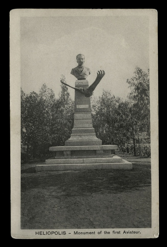 The Cairo Postcard Trust (Joseph Max Lichtenstern, Egypt) 'Heliopolis - Monument of the first Aviateur (Oseri)' c. 1910