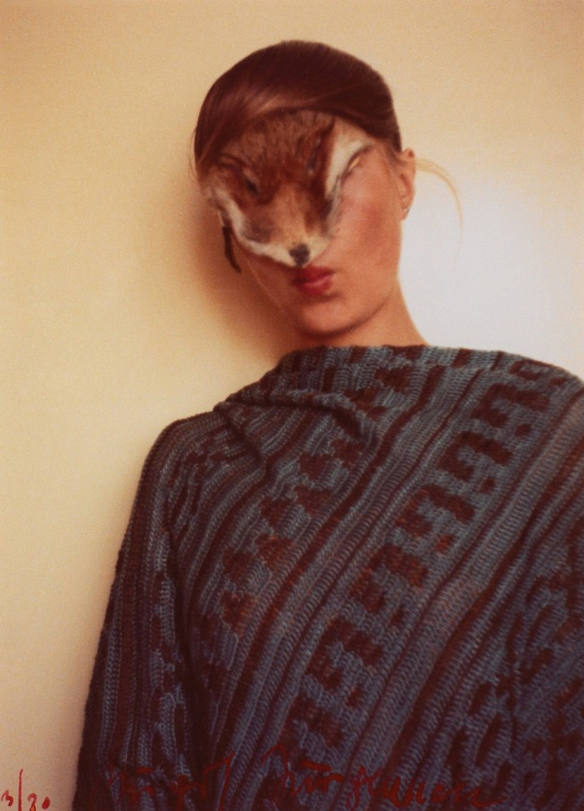 Birgit Jürgenssen (1949-2003) 'Untitled (Self with pelts)' 1974/1977