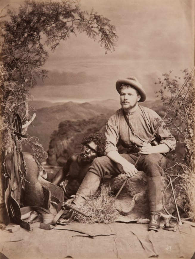 JW Lindt. 'No 37 Bushman and an Aboriginal man' 1873