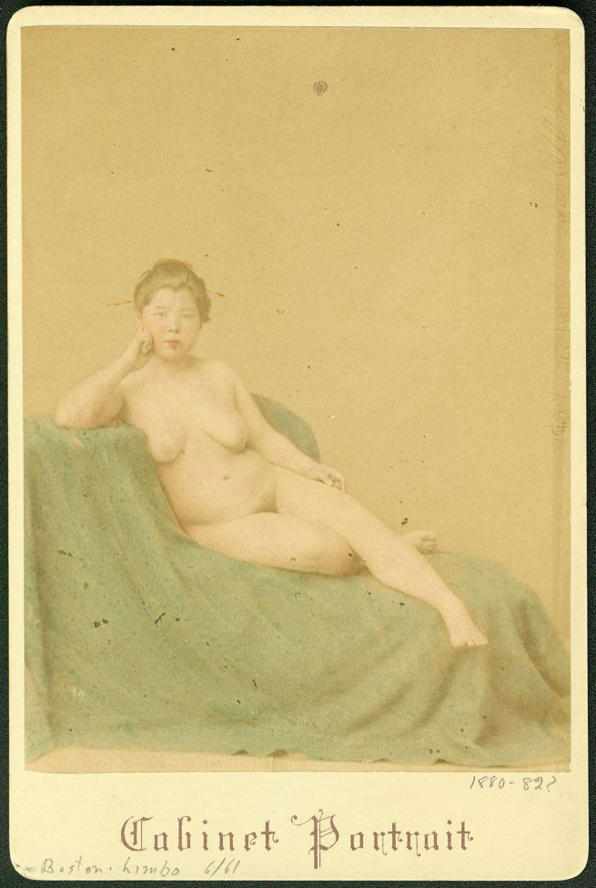 Stillfried & Andersen (Baron Raimund von Stillfried-Ratenicz (1839-1911), Austria, and Hermann Andersen. 'Reclining female nude' Yokohama, Japan, 1880-1882?