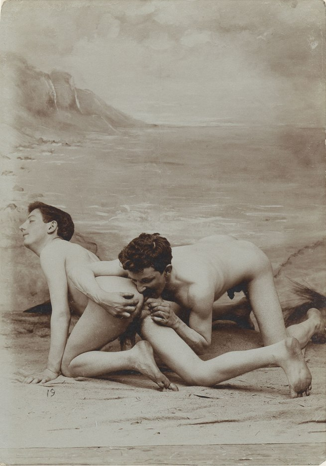 Unknown photographer, France 'Man performing analinctus on another man' 1885-1900