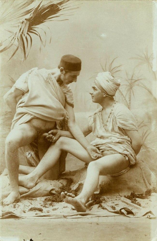 Unknown photographer. 'Two men performing mutual masturbation' 1880