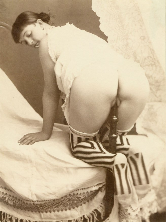 Unknown photographer. 'Woman masturbating with a bedpost' 1887