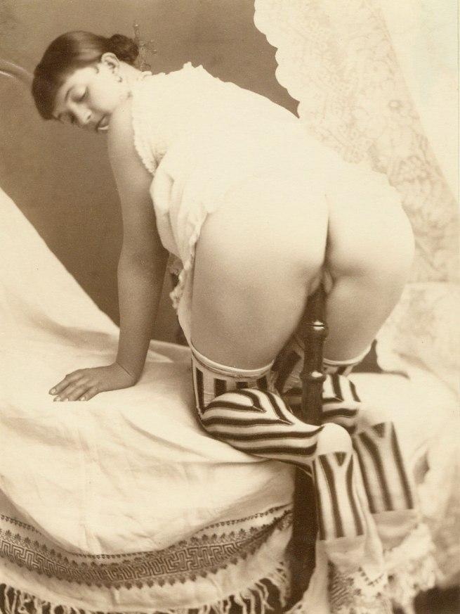 Bed post masturbation