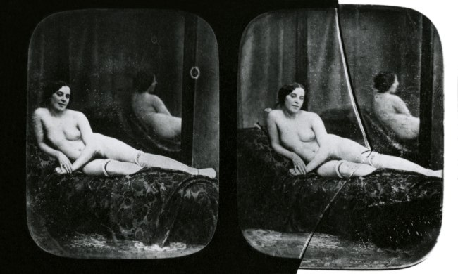 Unknown photographer, France 'Nude woman in a room with a mirror' c.1850-1855