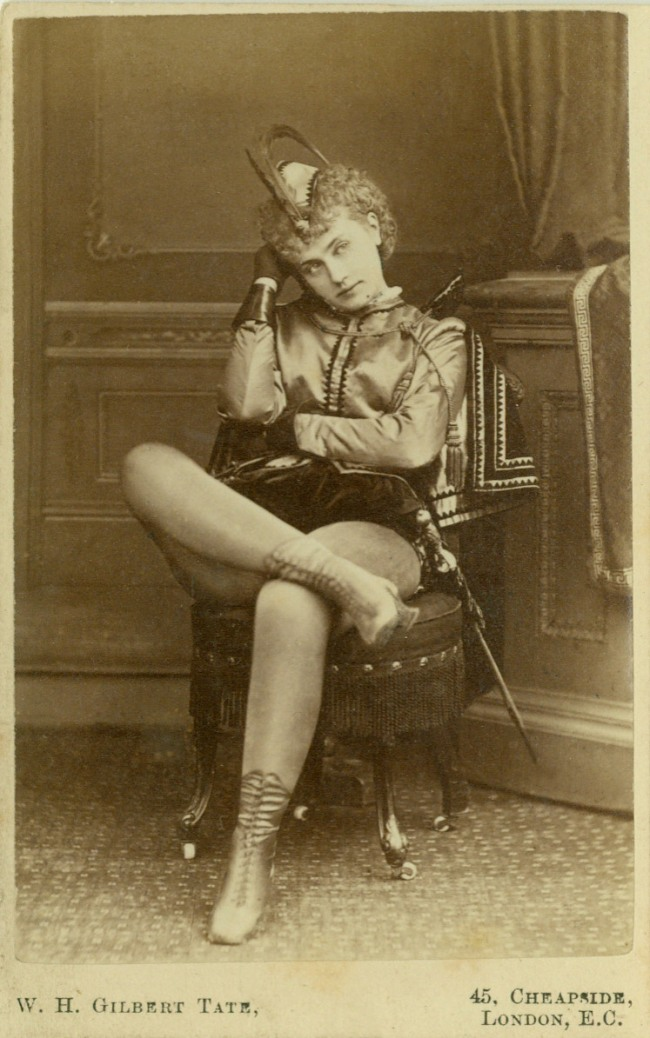 W.H. Gilbert Tate (London, England) 'Portrait of an actress' c.1870