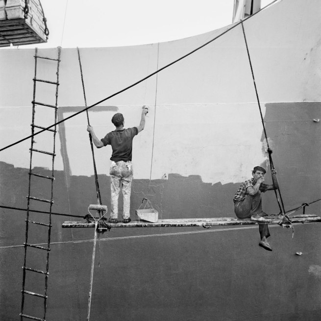 Nicolás Muller. 'Carénage du navire. Canaries' 1964
