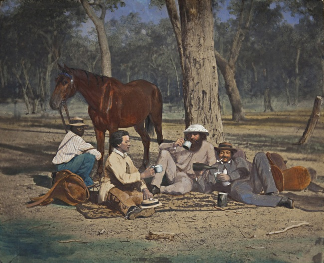 Richard Daintree. 'Midday camp' 1864–70