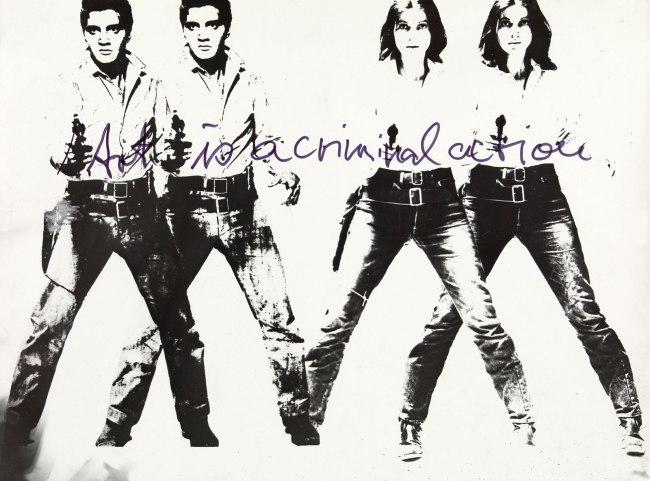 Ulrike Rosenbach (*1943)  'Art is a criminal action No. 4' 1969