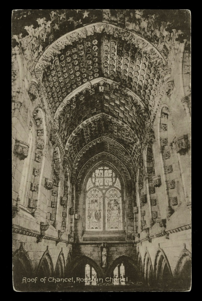 Unknown maker (F.W.H.) (British) 'Roof of Chancel, Rosslyn Chapel' Nd