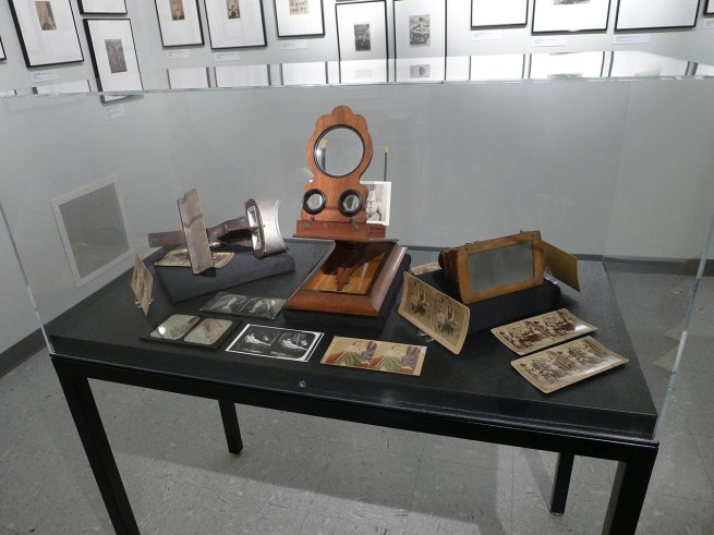 Stereoscope display case from the exhibition 'Hold That Pose' at the Kinsey Institute