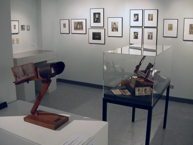 Stereoscope on display in the exhibition 'Hold That Pose' at the Kinsey Institute