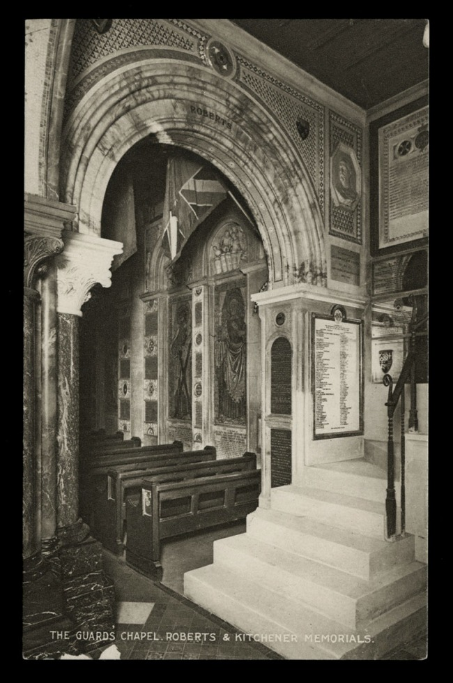 Raphael Tuck & Sons (British) 'The Guard's Chapel, Roberts & Kitchener Memorials' Nd