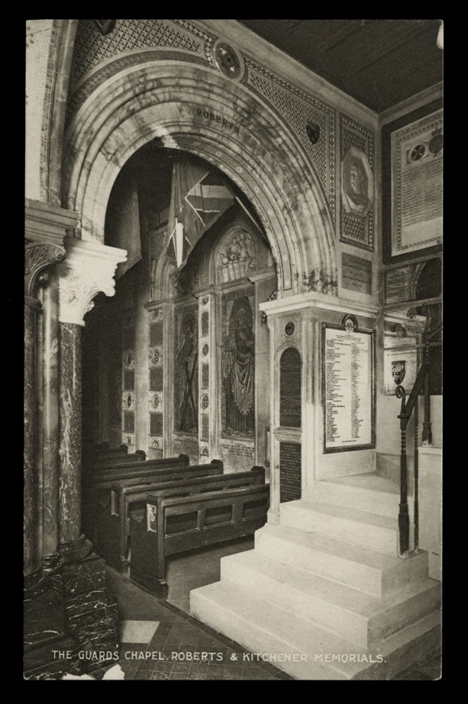 Raphael Tuck & Sons (British) 'The Guard's Chapel, Roberts & Kitchener Memorials' Nd