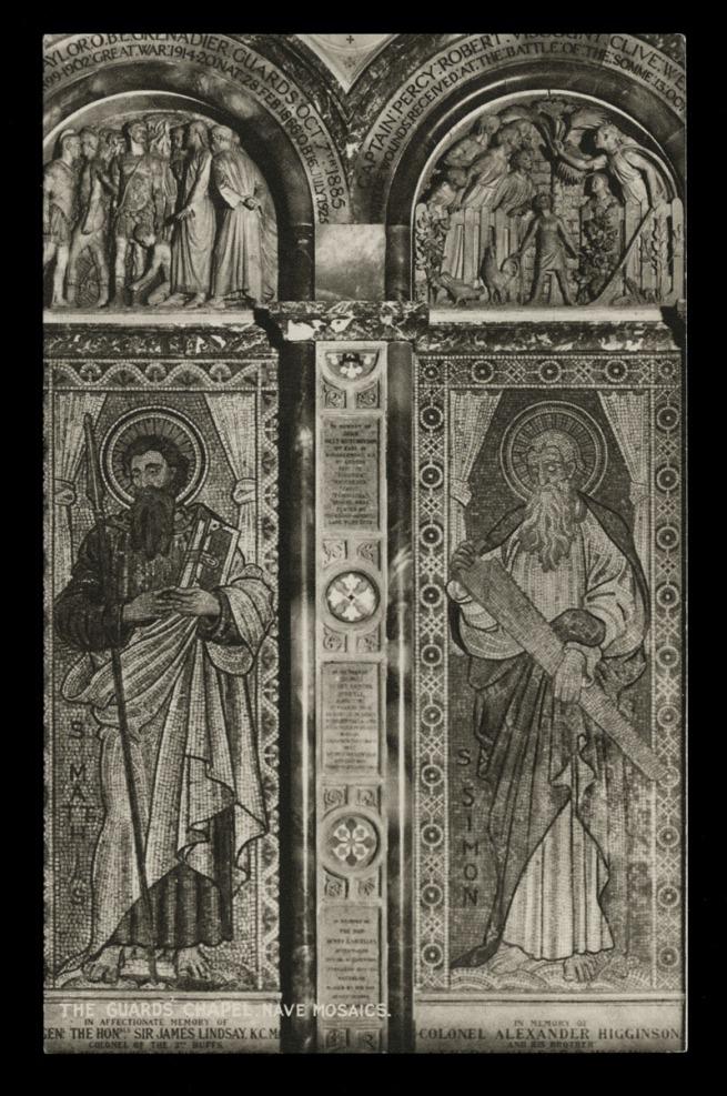 Raphael Tuck & Sons (British) 'The Guard's Chapel, Nave Mosaics' Nd