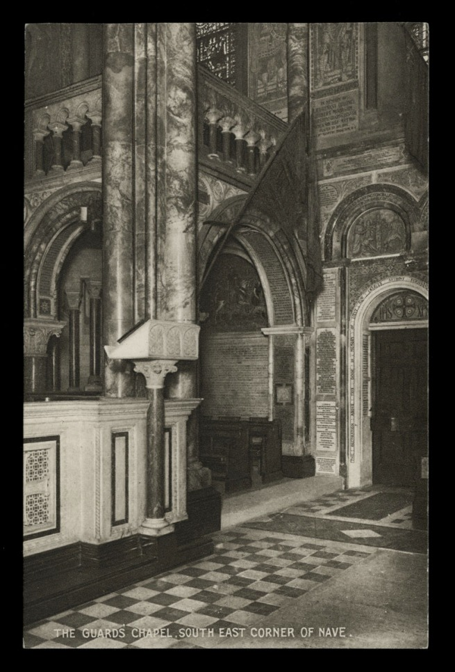 Raphael Tuck & Sons (British) 'The Guard's Chapel, South East corner of Nave' Nd
