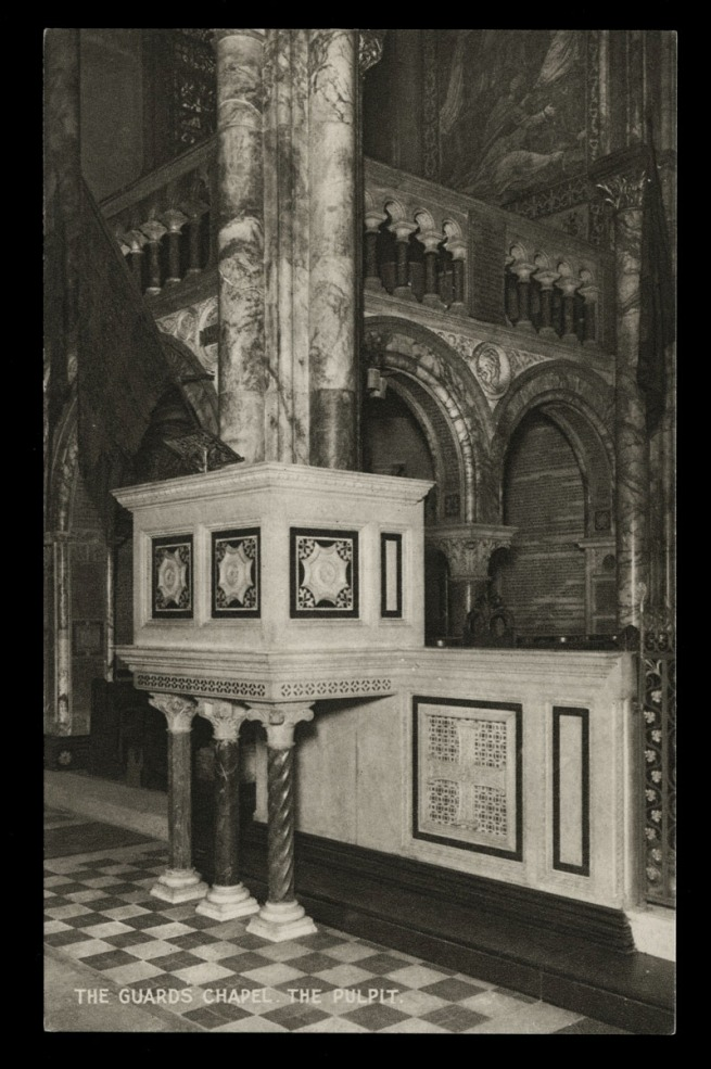 Raphael Tuck & Sons (British) 'The Guard's Chapel, The Pulpit' Nd