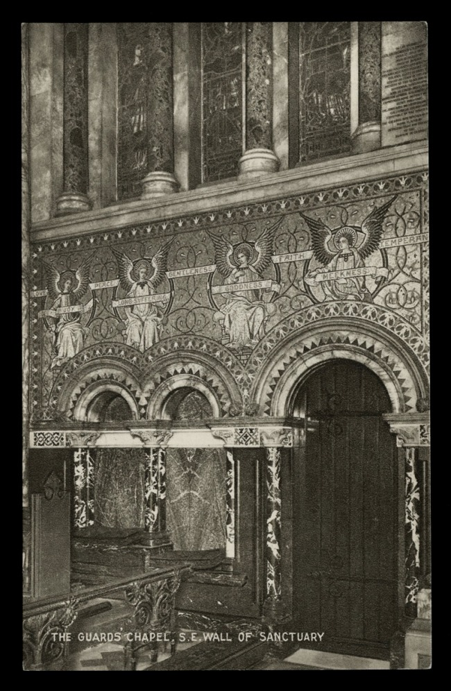 Raphael Tuck & Sons (British) 'The Guard's Chapel, S. E. Wall of Sanctuary' Nd