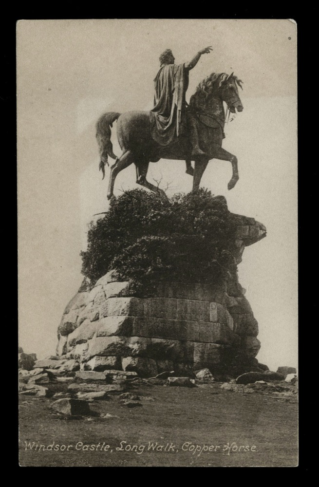 F. Frith & Co. Ltd., Reigate (British, 1959 - 1970) 'Windsor Castle, Long Walk, Copper Horse' Nd
