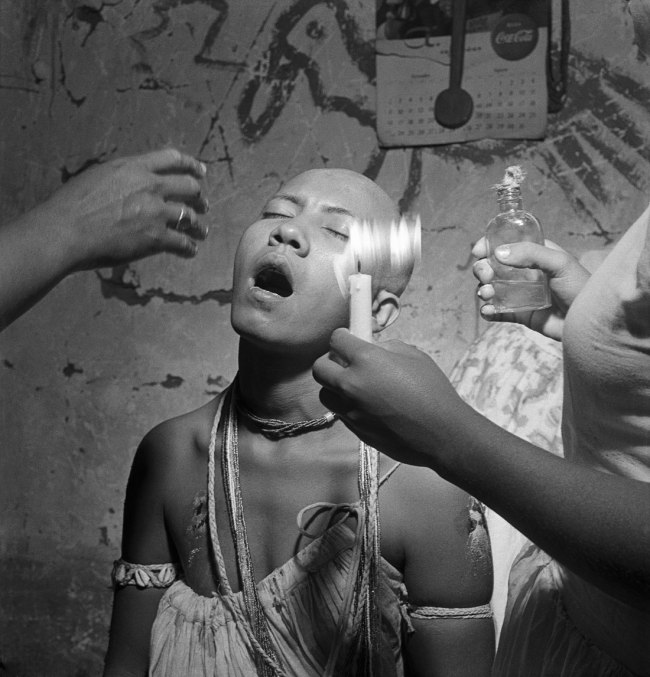 José Medeiros (1921-1990) 'Novice during the initiation ritual of the holy daughters, Salvador' 1951