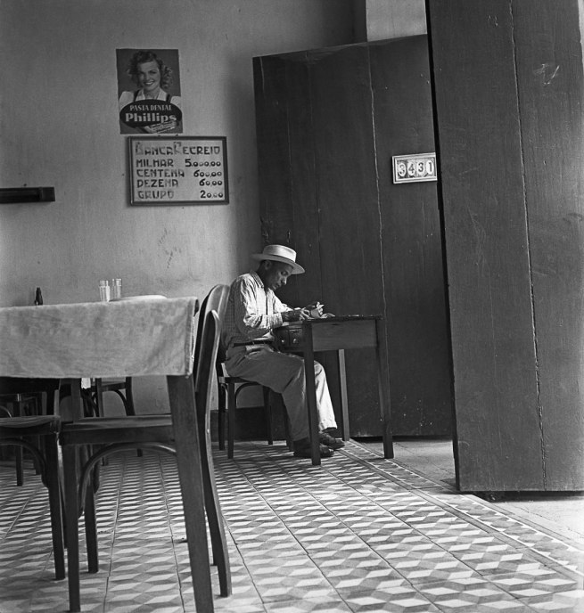 José Medeiros (1921-1990) 'Man sitting in a cafe, probably in Northeast Brazil' Nd
