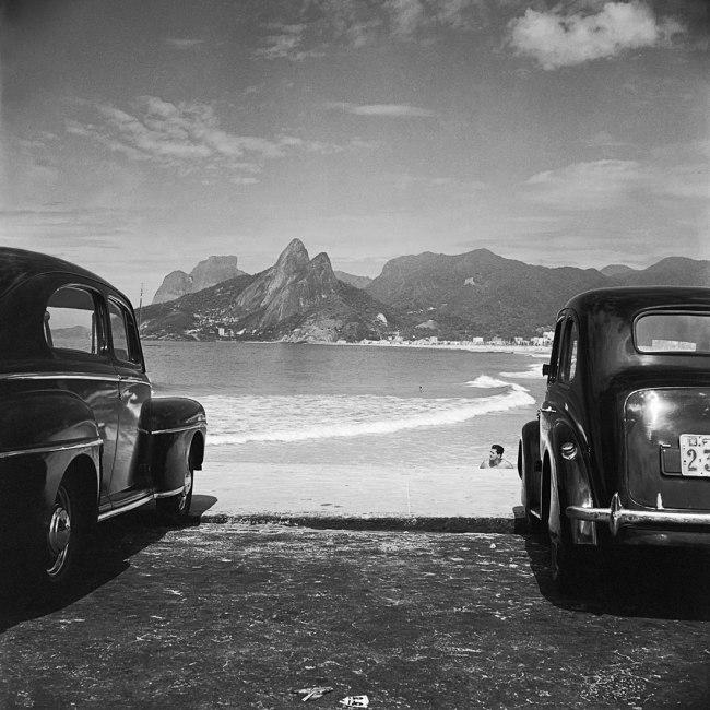 José Medeiros (Brazilian, 1921-1990) 'Pedra da Gávea, Morro Dois Irmãos and the Beaches Ipanema and Leblon, Rio de Janeiro' 1952
