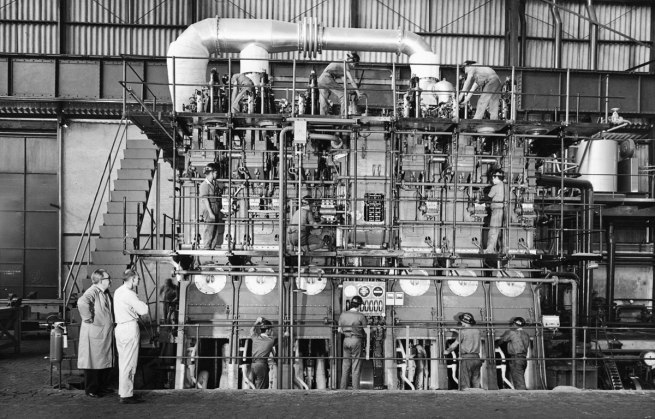 Hans Gunter Flieg (1923 -) 'Construction engines in Villares plant, São Caetano do Sul, São Paulo' 1960