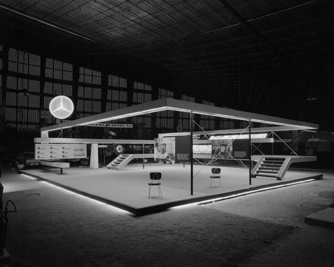 Hans Gunter Flieg (1923 -) 'Mercedes Benz booth at the International Exhibition of Industry and Commerce São Cristóvão (project Henri Maluf), Rio de Janeiro' 1960