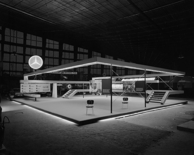 Hans Gunter Flieg (1923 -) 'Mercedes Benz booth at the International Exhibition of Industry and Commerce São Cristóvão (project Henri Maluf), Rio de Janeiro' 1960