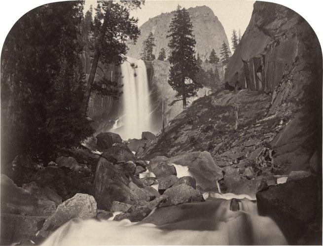 Carleton E. Watkins. 'Piwac, Vernal Falls, 300 feet, Yosemite' 1861
