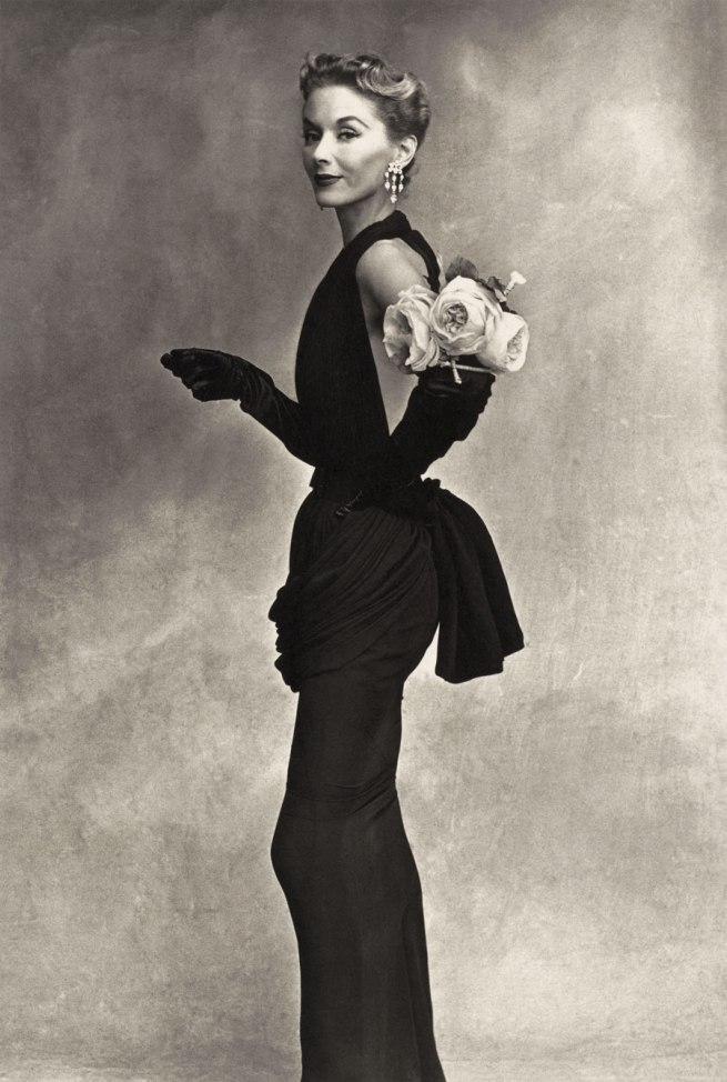 Irving Penn. 'Woman with Roses (Lisa Fonssagrives-Penn in Lafaurie Dress), Paris' 1950