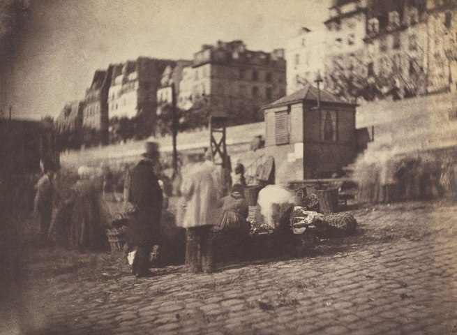 Charles Nègre. 'Market Scene at the Port of the Hotel de Ville, Paris' before February 1852