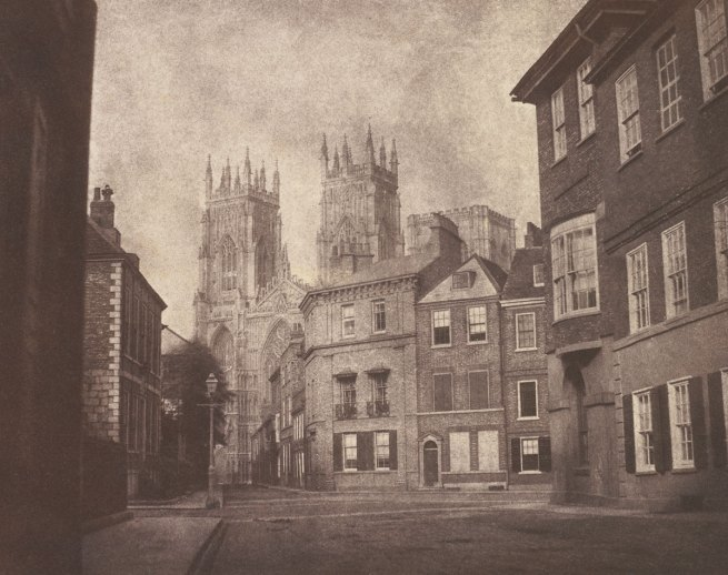 William Henry Fox Talbot. 'A Scene in York: York Minster from Lop Lane' 1845