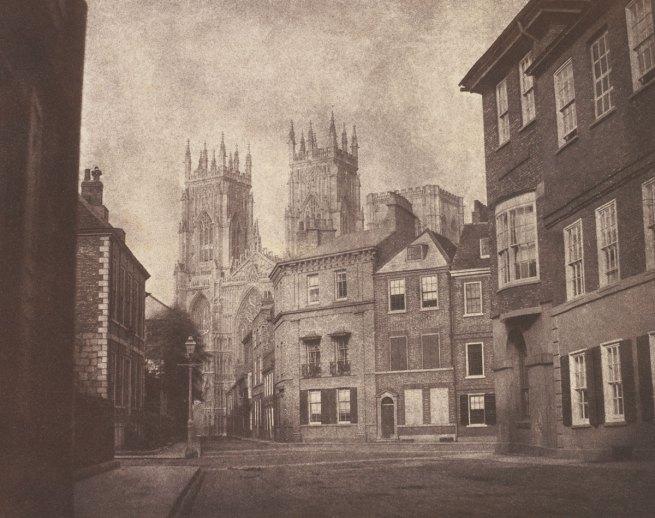 William Henry Fox Talbot. 'A Scene in York: York Minster from Lop Lane' 1845
