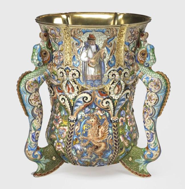 Fedor Rückert (Russian, 1840-1917) 'Loving Cup' 1899-1908