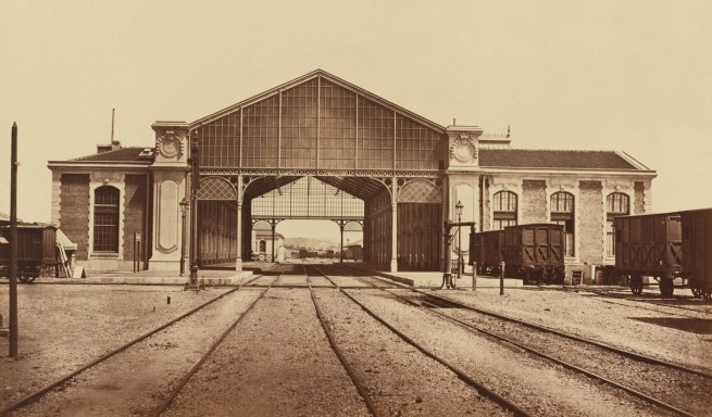 Édouard-Denis Baldus. 'Toulon, Train Station' c. 1861