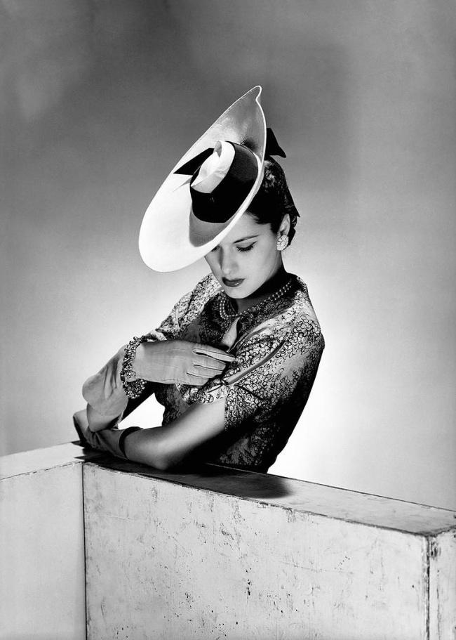 Lee Miller. 'The latest hat model, Vogue Studios, London, April 1942' 1942
